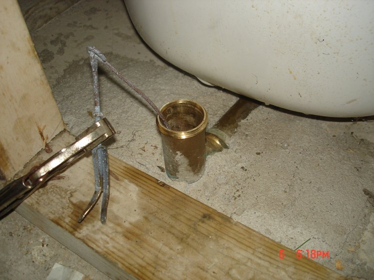 rusted tub drain stopper