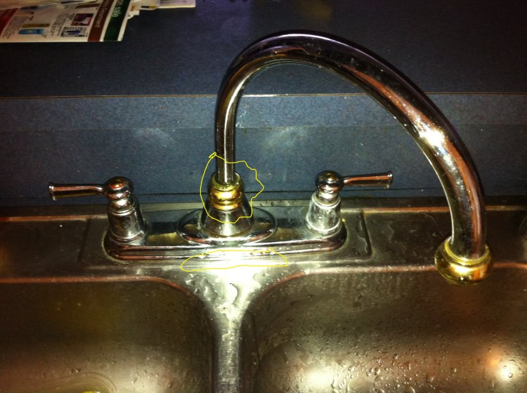 Moel Kitchen Faucet Leaking At The Base