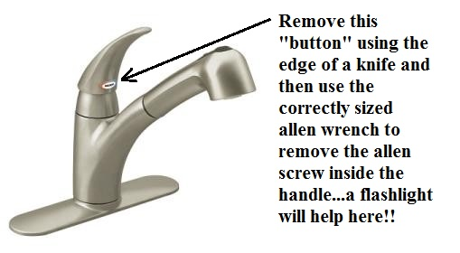Removing moen kitchen faucet video