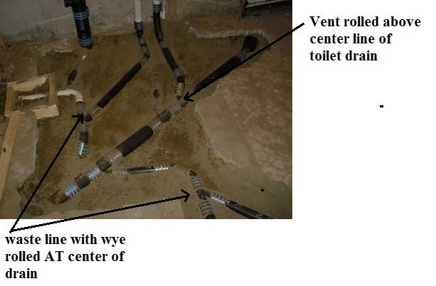 basement bathroom plumbing venting help needed