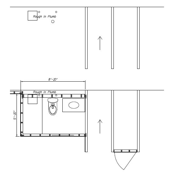 Subfloor And P-trap For Basement Bathroom