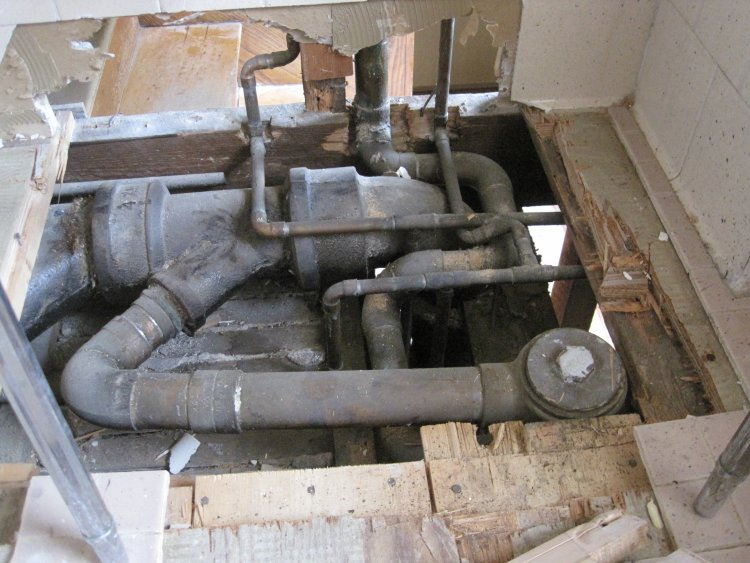 Upstairs Bathroom Plumbing Question