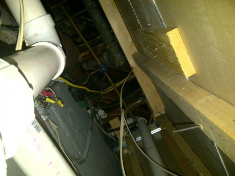 sewer ejector pump venting in basement bathroom