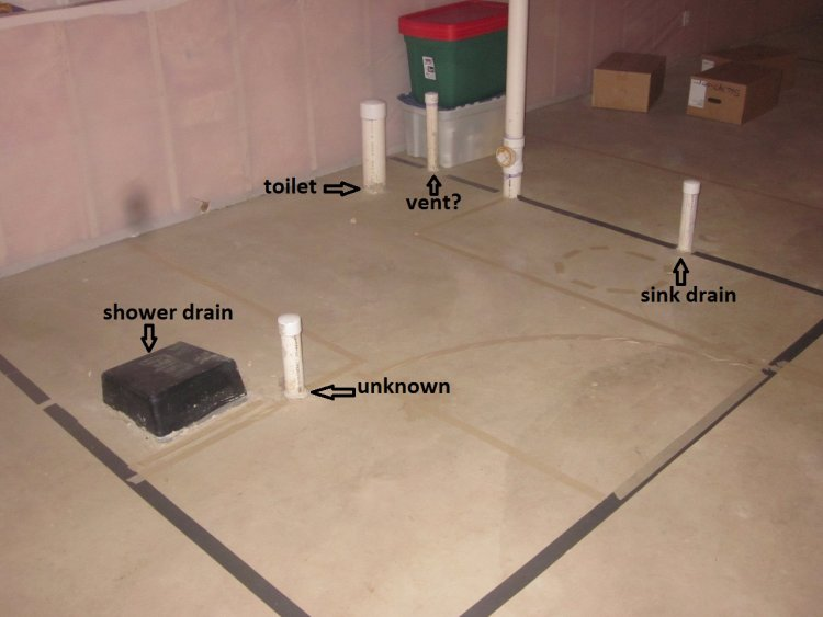 basement rough in plumbing diagram submited images