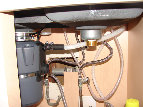 new double sink disposal dishwasher old drain pipe