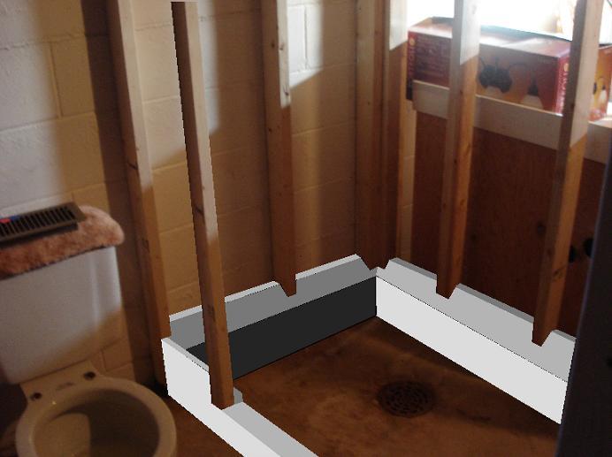 Can Use Basement Floor Drain Shower
