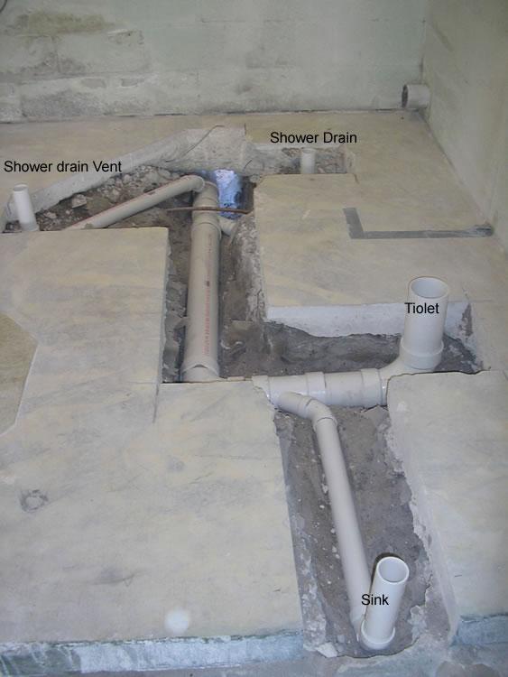 Rough Plumbing Cleanouts And Concrete Pvc