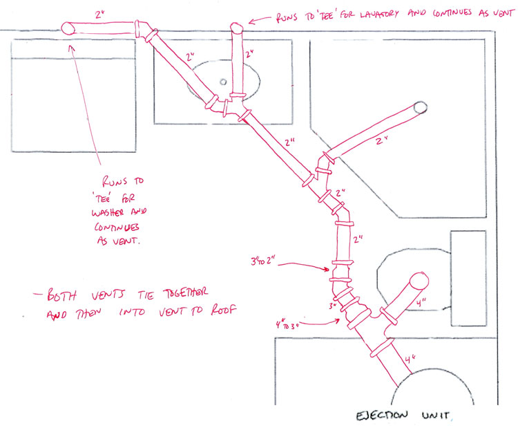 Bathroom Plumbing Installation Plans Adorable Plumbing A New Bathroom Diagram  Home Design  Healthsupport Review