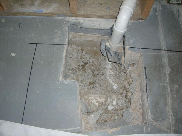 basement shower drain sink drain issues