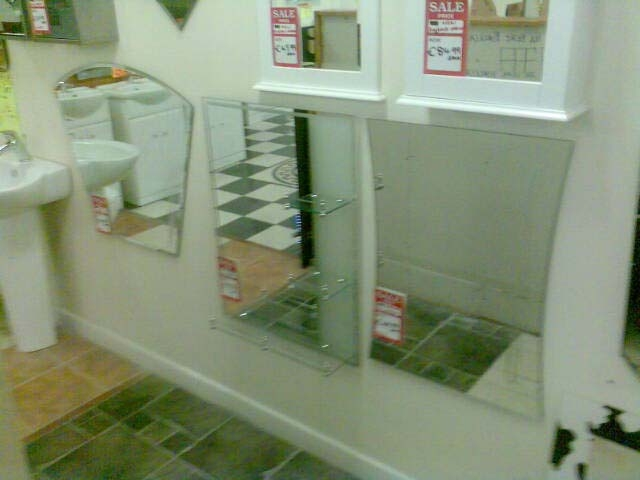 Bathroom Mirrors With Tile Borders