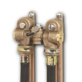 washing machine water shut valves