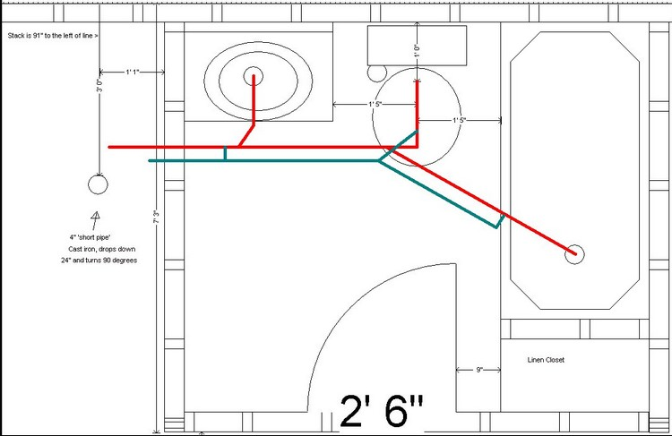 Basement bathroom information needed for Basement bathroom design layout