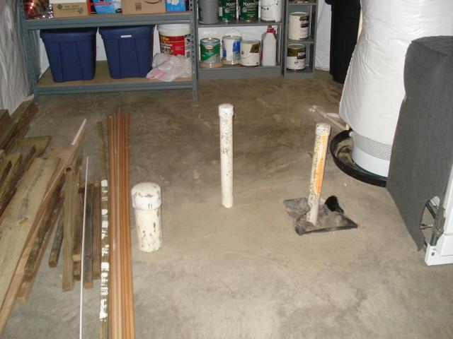 basement rough in plumbing