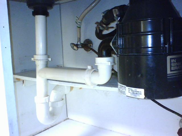 double sink plumbing. Black Bedroom Furniture Sets. Home Design Ideas