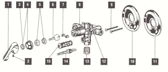single valve handle delta shower monitor faucet repair cartridge kit