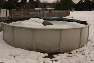 Winter Leak Ice What To Do Above Ground Pool