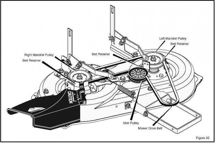 T12949126 Belt diagram huskee 26hp 54inch deck further Cutter Deck Drive Belt Fits Craftsman Lt1000 Ayp Model With 38 Inch Deck Fitted Replaces 180214 791 P also Craftsman 48 Inch Mower Deck Belt Diagram also Sears Craftsman Gt5000 Garden Tractor Parts together with Wiring Diagram For Craftsman Gt5000. on craftsman gt 5000 wiring diagram
