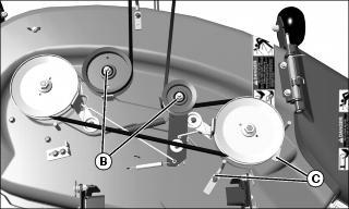 John Deere L100 Engine Diagram furthermore John Deere Stx38 Drive Belt Diagram besides Deck Belt moreover 46 Mtd Drive Belt Diagram furthermore John Deere L130 Belt Installation. on john deere riding mower deck belt