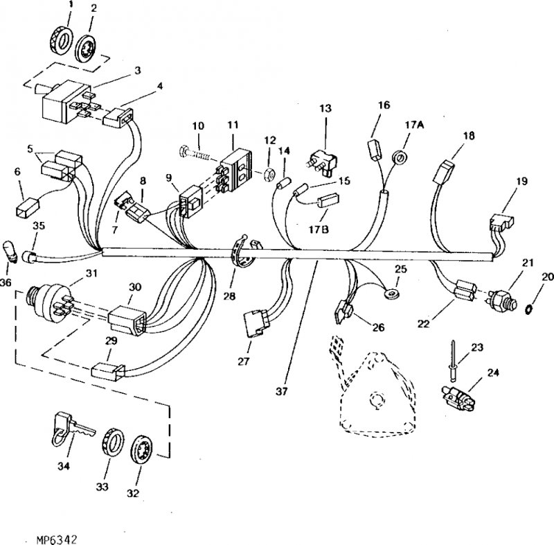 VZ5d 3902 moreover John Deere 850 Parts Diagram as well Rewiring Ole John Deere 160 A 649409 in addition JY6s 777 moreover 4qdyc John Deere Tractor Model 2950 Fuses. on john deere 2950 wiring diagram