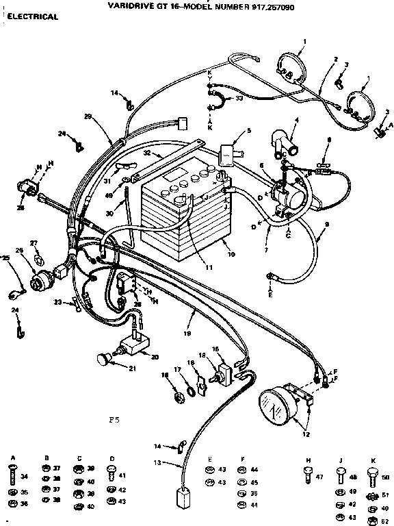 how do you wire a amp meter for craftsman riding mower