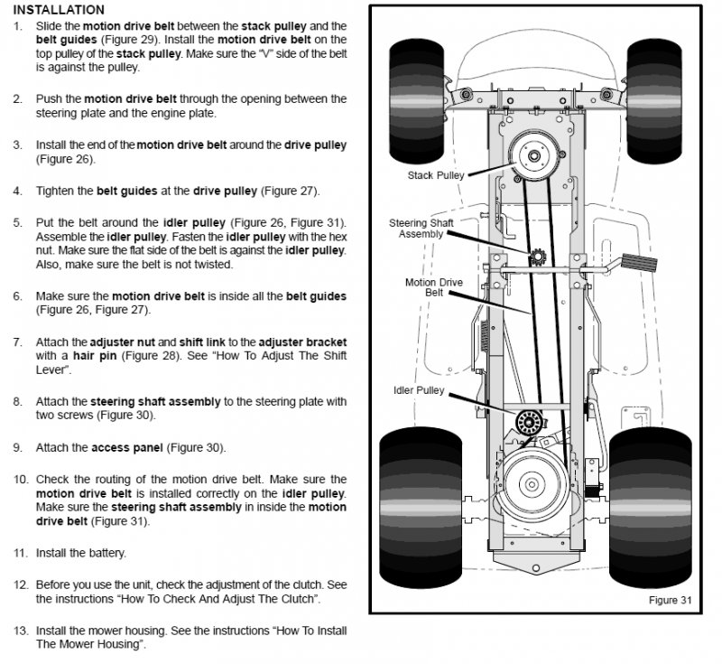 How Do I Replace A Motion Drive Belt On A Murray Lawn